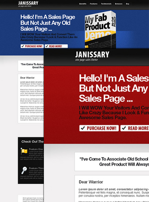 Product picture Sales Letter Template - Janissary One Page Sale Theme W/rr