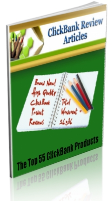 Product picture 55 Clickbank Top Product PLR Review Articles